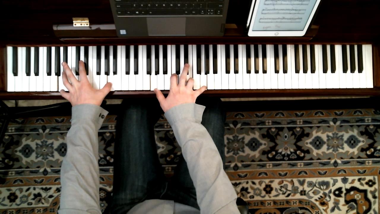 Joe Roessler Piano Overhead Remote Teaching Shot
